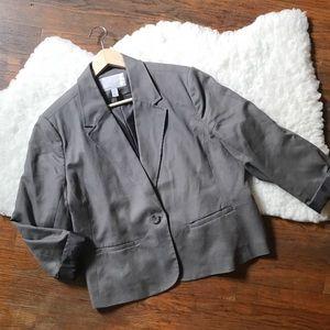 XXL Petite Old Navy Gray Blazer